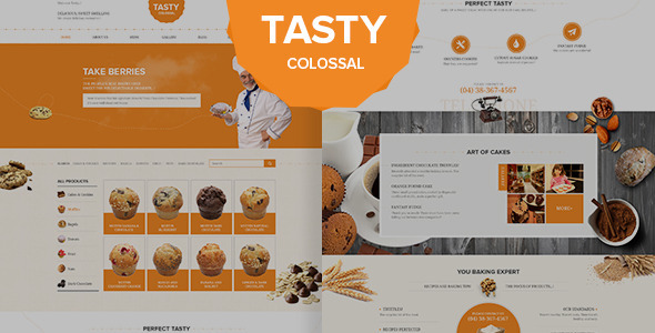 ThemeForest Tasty Psd Template 11272086