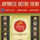 Japanese Bistro Menu Card - GraphicRiver Item for Sale