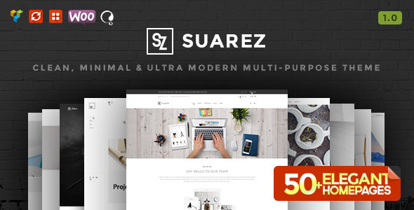 ThemeForest Suarez Clean Minimal & Modern Multi-Purpose Theme 10693933