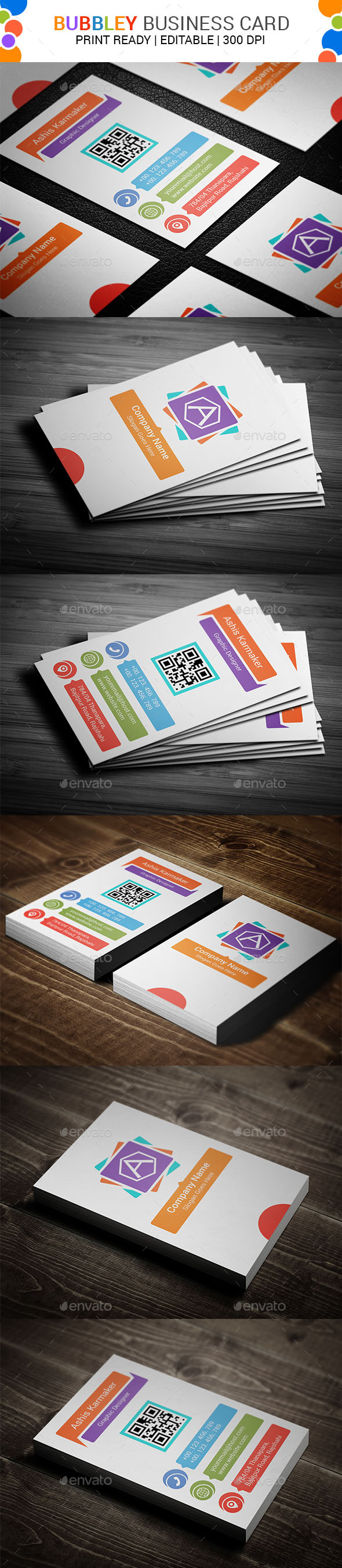 GraphicRiver Bubbley Business Card 11456520