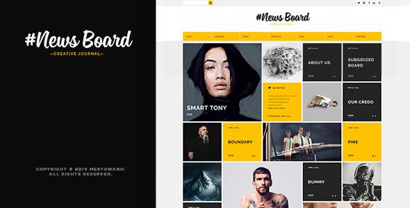 ThemeForest #News Board WordPress Theme 11365794