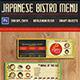 Japanese Bistro Mini Flyer - GraphicRiver Item for Sale