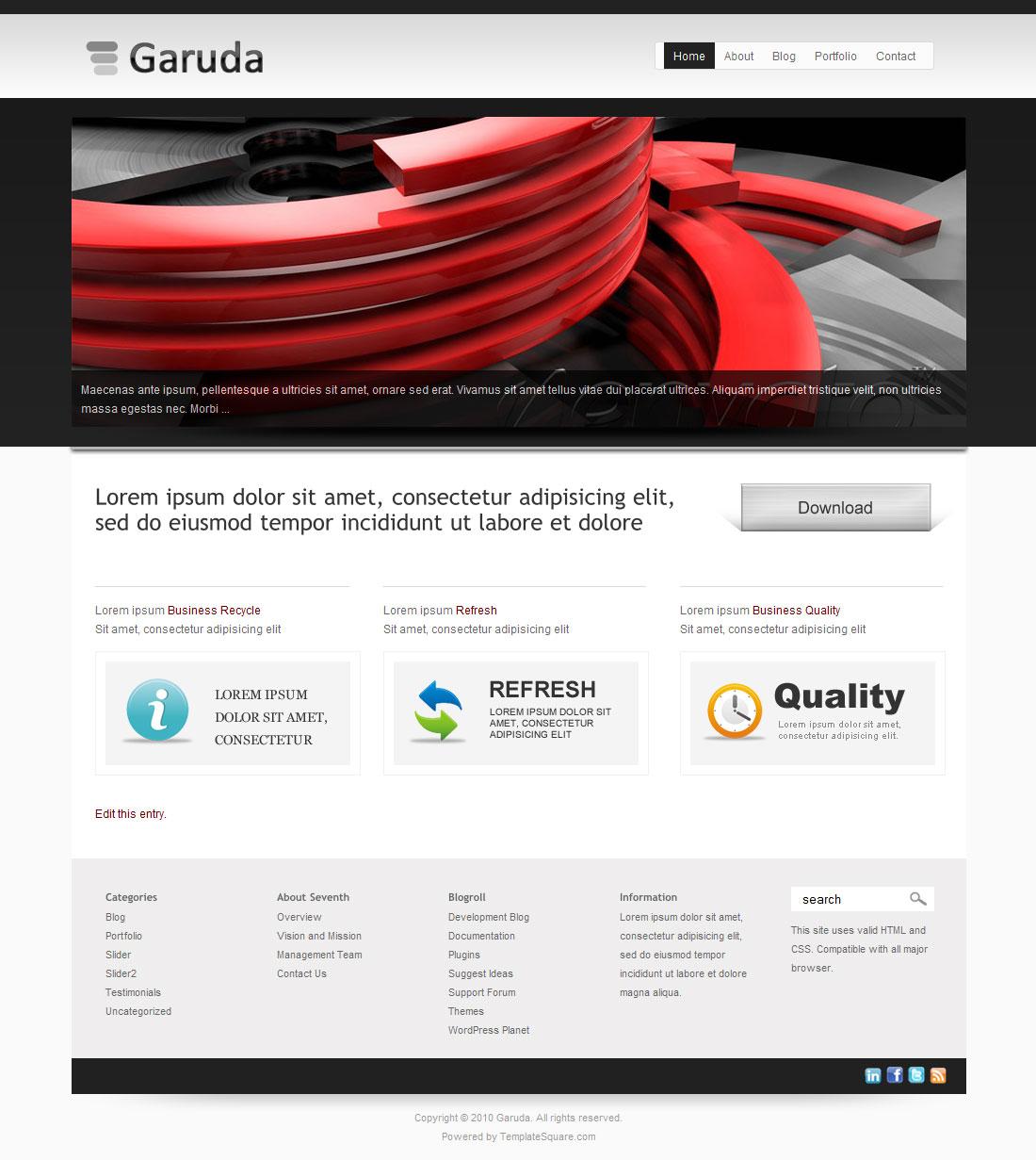 Garuda - Portfolio and Business WordPress Theme