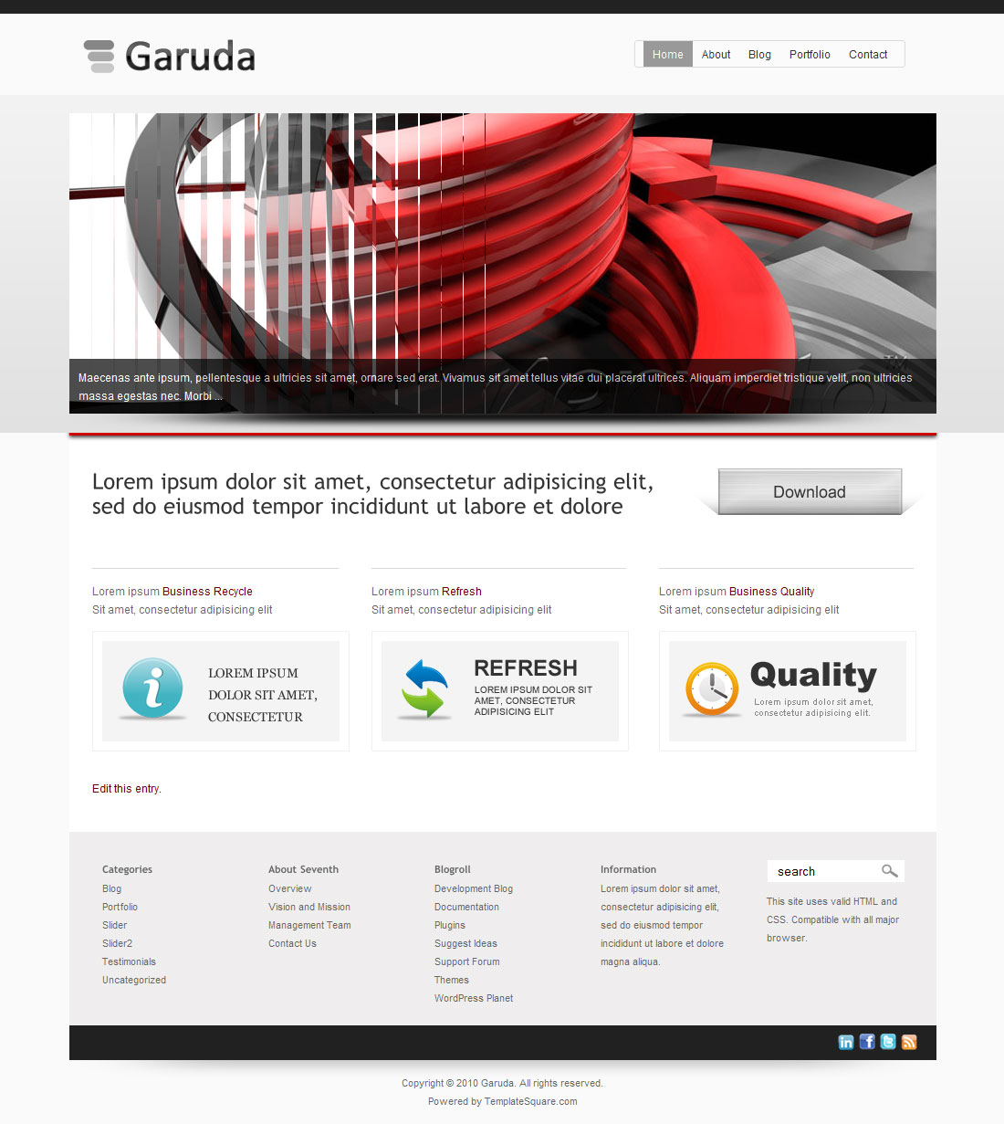 Garuda - Portfolio and Business WordPress Theme