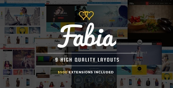 ThemeForest Fabia Premium Magento Theme with 9 Layouts 11456729