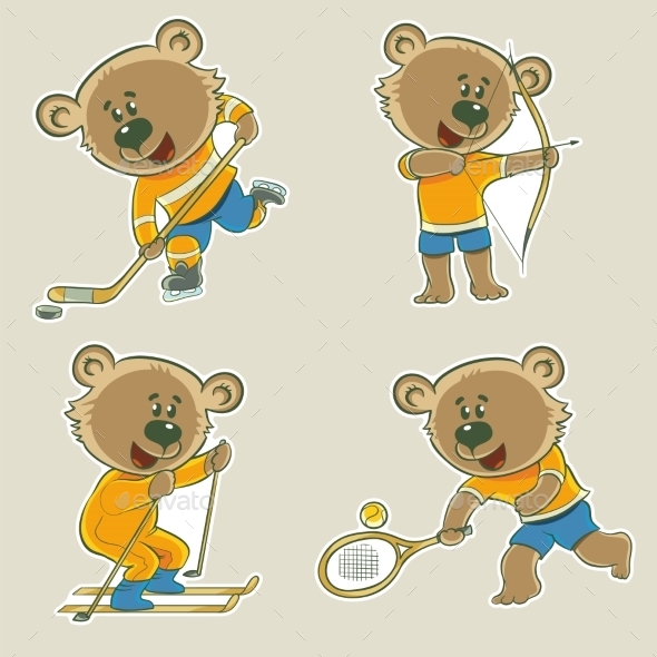 GraphicRiver Bear Athlete 11456732