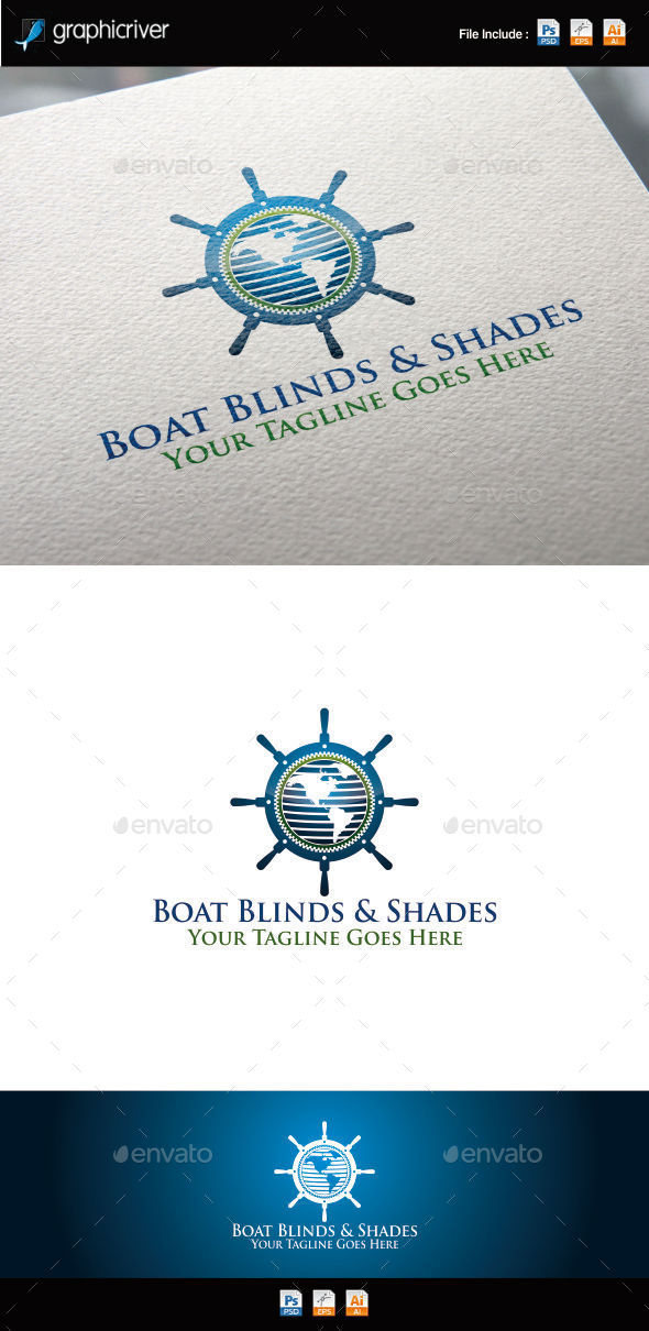 GraphicRiver Boat Blinds and Shades Logo 11456752