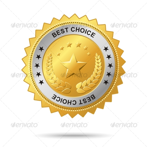 Best choice golden label. - Decorative Symbols Decorative