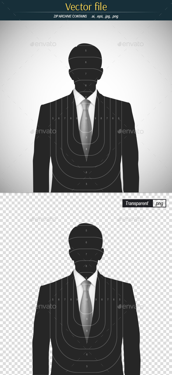 GraphicRiver Target Shooting with Silhouette of a Businessman 11456852