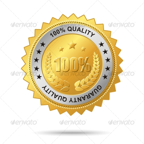 Guaranty_quality_golden_label - Decorative Symbols Decorative
