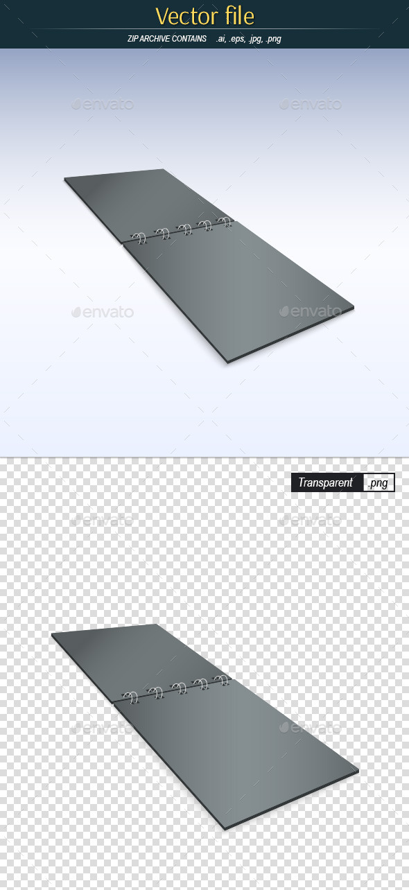 GraphicRiver Template Notepad Black 11456857