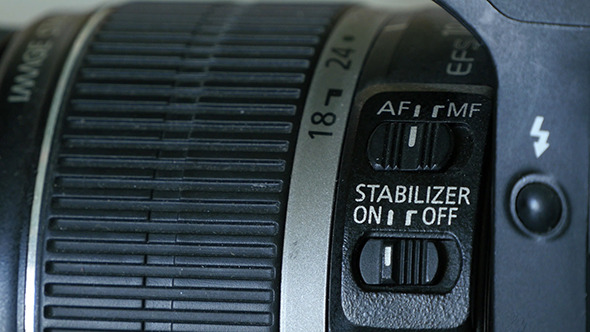 Stabilizer Button On Lens