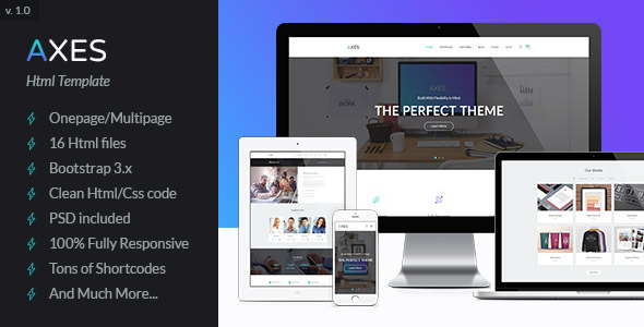 ThemeForest Axes Multipurpose One Multipage Html Template 11437827