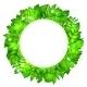 Fresh Green Leaves Vector Border. - GraphicRiver Item for Sale