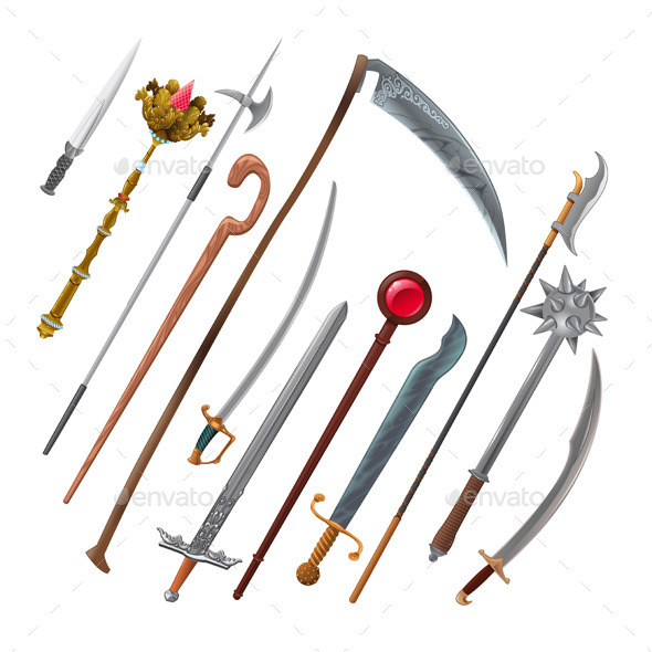 GraphicRiver Set of Different Weapons 11457147