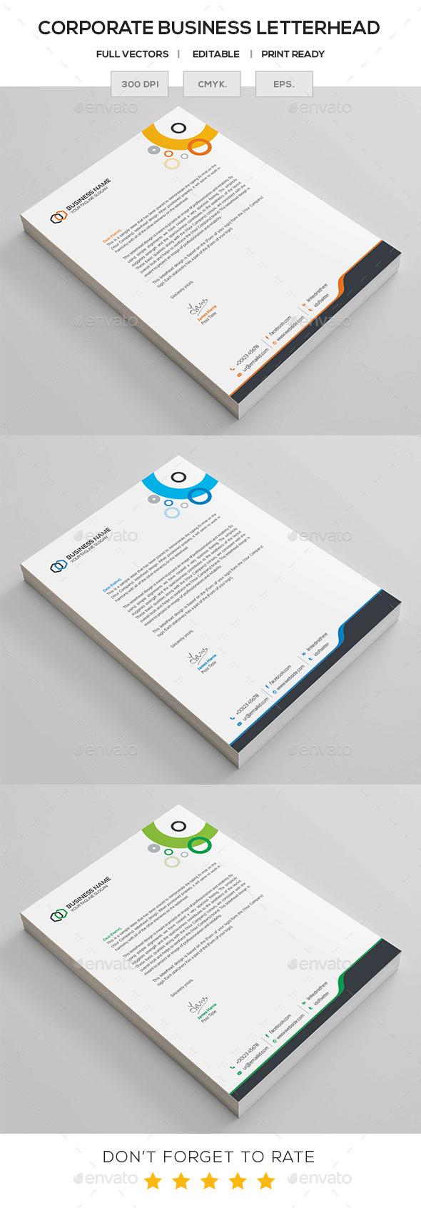 GraphicRiver Corporate Letterhead 11457155