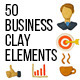 50 Stop Motion Business Clay Elements - VideoHive Item for Sale