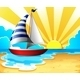 Sail and Beach - GraphicRiver Item for Sale