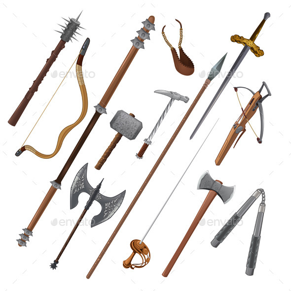 GraphicRiver Set of Different Weapons 11457206