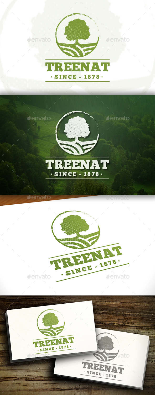 GraphicRiver Oak Tree Logo 11457223