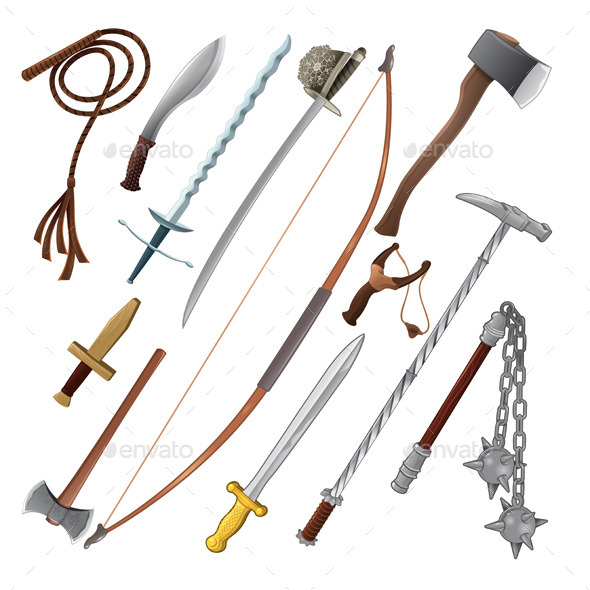 GraphicRiver Set of Different Weapons 11457266