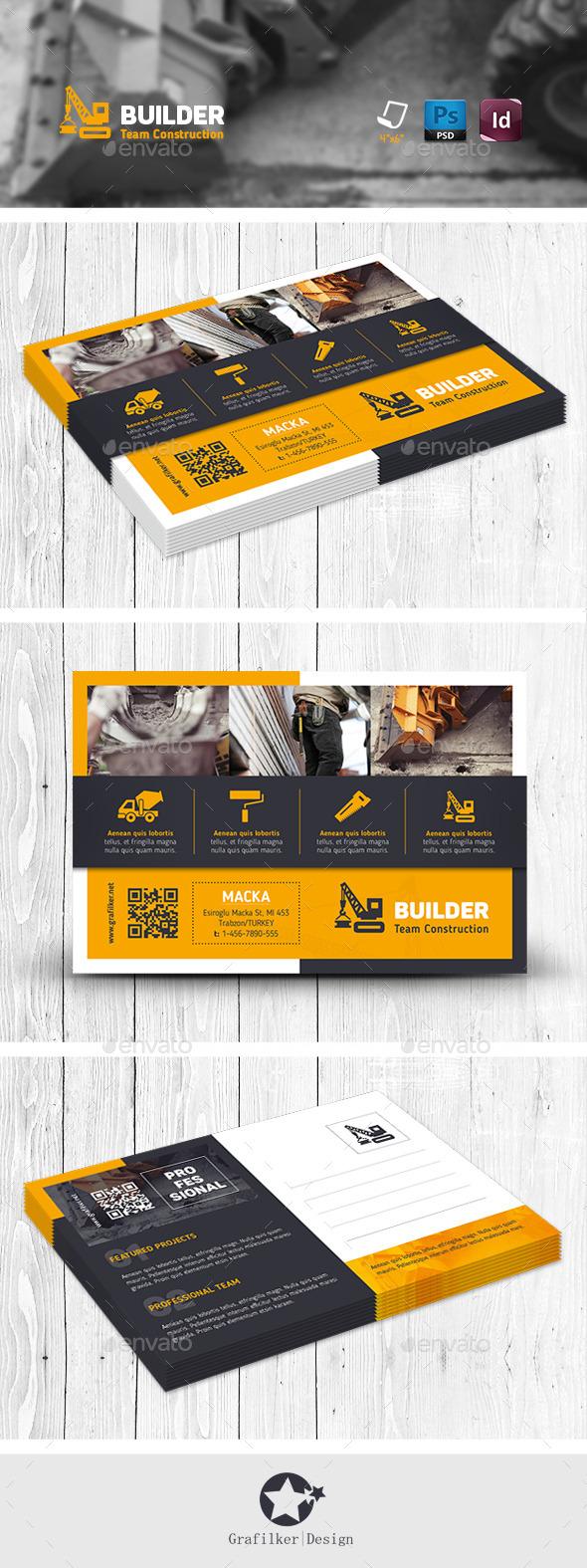 GraphicRiver Construction Postcard Templates 11457297