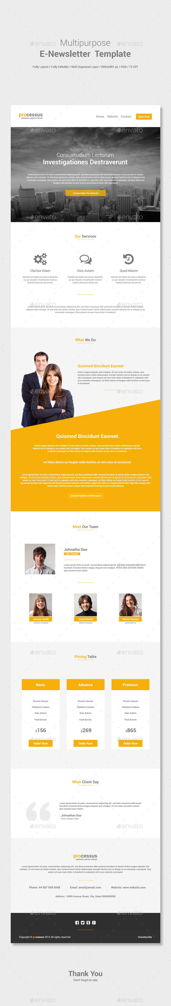 GraphicRiver Multipurpose E-newsletter Template 11457312