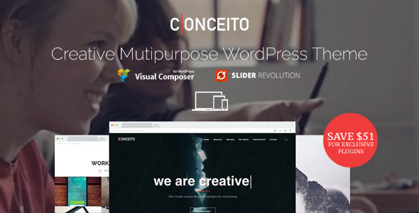 ThemeForest Conceito Creative One Page Parallax WP Theme 11457356