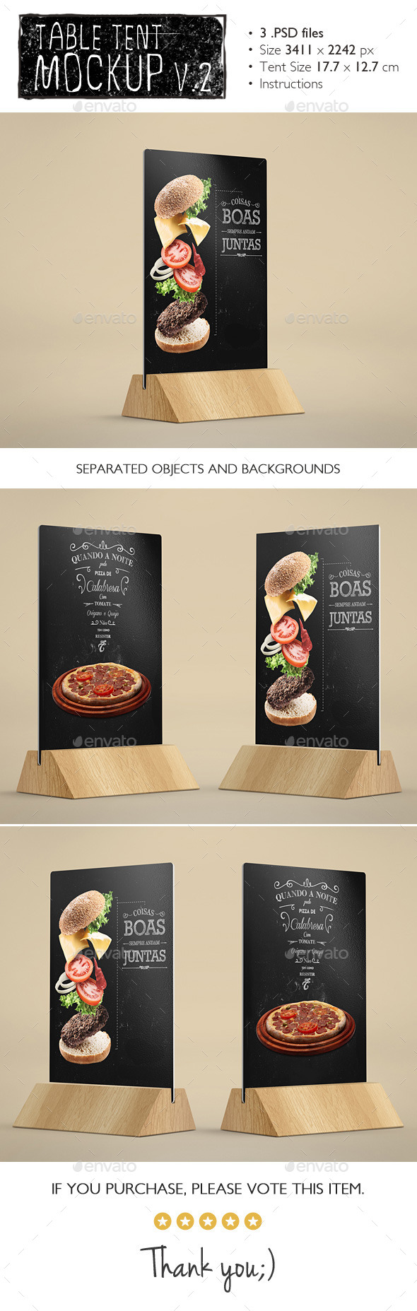 GraphicRiver Table Tents Mockup v.2 11457416