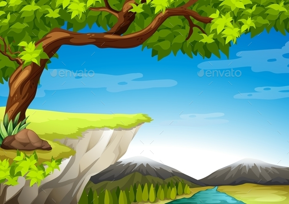 GraphicRiver Mountains and Trees 11457551