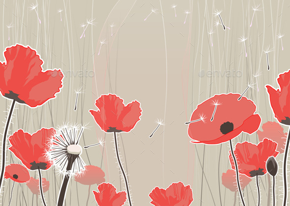 GraphicRiver Background with Flowers 11457557