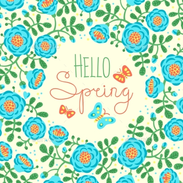 GraphicRiver Season Card Hello Spring 11457621