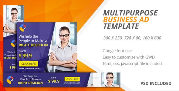 CodeCanyon Multipurpose Google Html5 Ad Template 01 11457658
