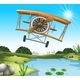 A Plane Above the Pond - GraphicRiver Item for Sale