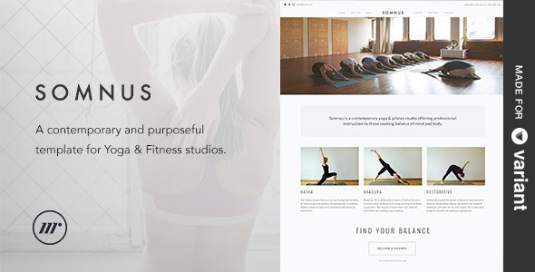 ThemeForest Somnus Yoga & Fitness Studio Template & Builder 11457698