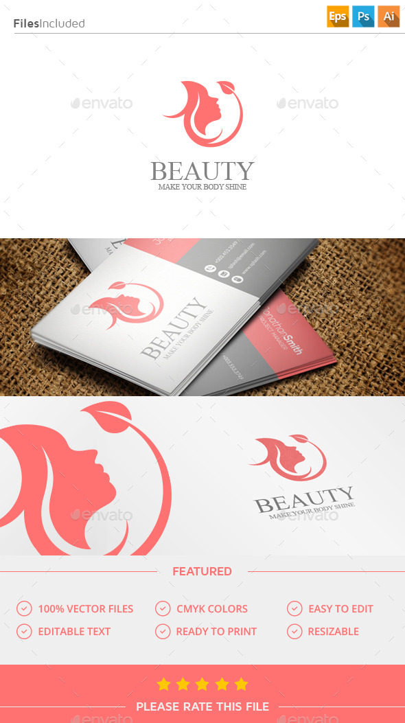 GraphicRiver Beauty Woman Logo 11457704