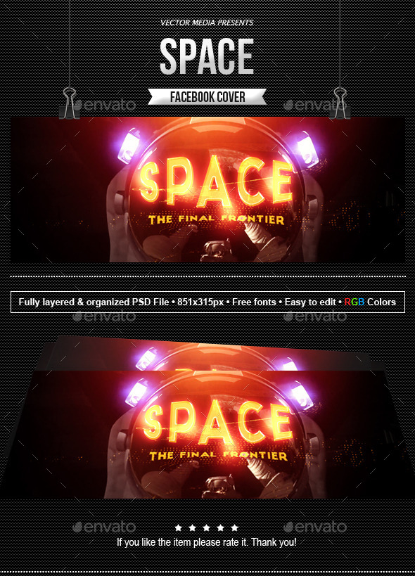 GraphicRiver Space Facebook Cover 11457811