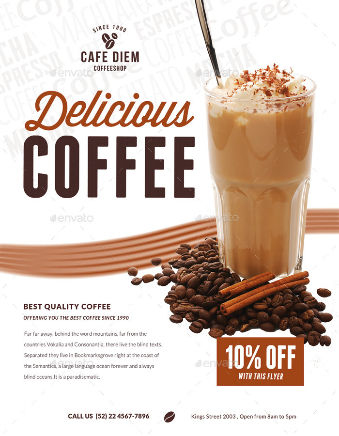 Premium Coffee Flyers Magazine Ad By Ingridk Graphicriver