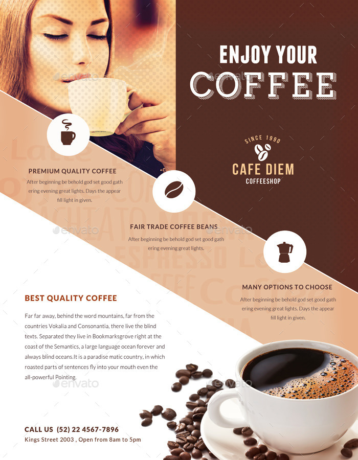 Premium Coffee Flyers Magazine Ad By Ingridk Graphicriver