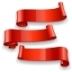 Red Glossy Vector Ribbons Set - GraphicRiver Item for Sale