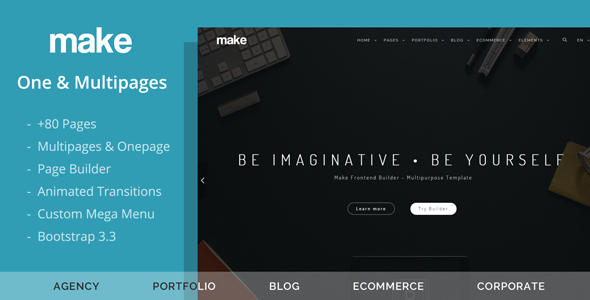 Make – Multipurpose One/Multipage Theme (Creative) Download
