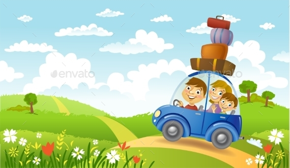 GraphicRiver Family Summer Adventure 11458084