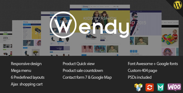 ThemeForest Wendy Multi Store WooCommerce Theme 11443116