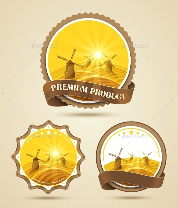 GraphicRiver Set Of Windmills Labels 11458108