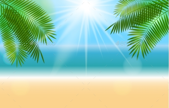 GraphicRiver Summer Sunny Natural Background Vector 11458318