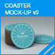 Coaster Mock-up 3 - GraphicRiver Item for Sale