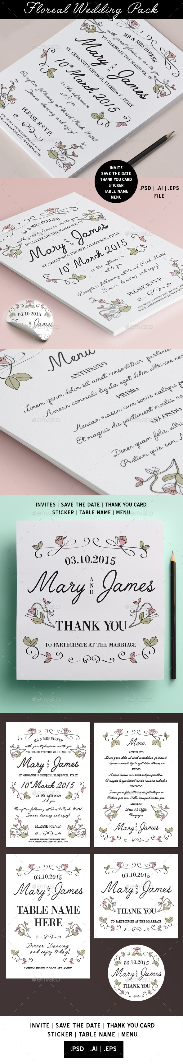 GraphicRiver Floras Wedding Pack 11392954