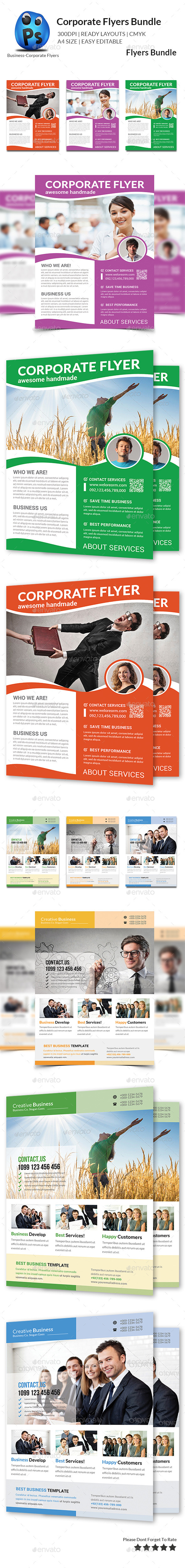 GraphicRiver Corporate Business Flyer Bundle 11458519