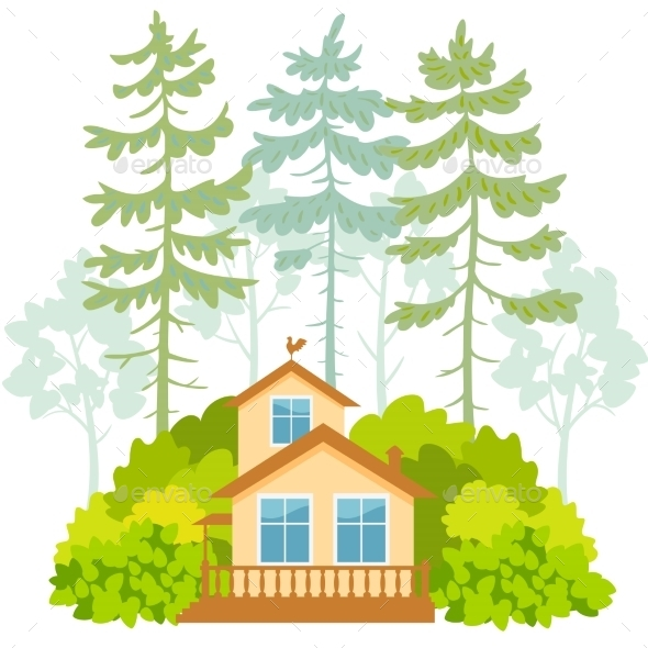 GraphicRiver Houses and Forest 11458791