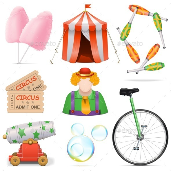 GraphicRiver Circus Icons 11458803